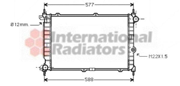Radiateur du moteur pour OPEL ASTRA F 3/5 portes (53_, 54
