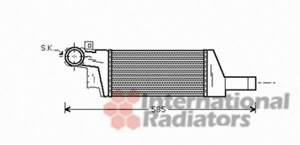 Intercooler, échangeur pour OPEL CORSA C (F08, F68) 1.3