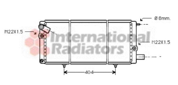 Radiateur du moteur pour PEUGEOT 205 II (20A/C) 1.7 Diesel