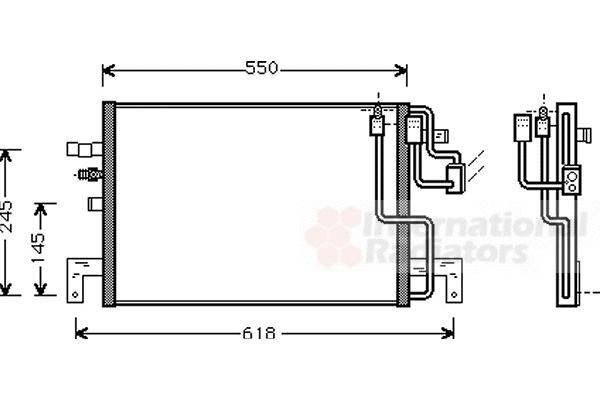 Condenseur, climatisation pour SAAB 9-3 (YS3D) 2.2 TiD