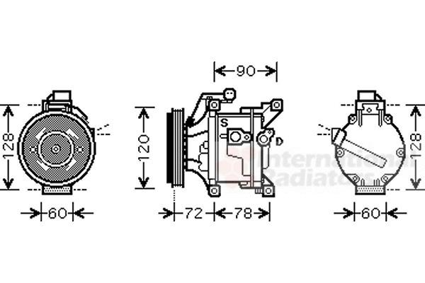 Compresseur, climatisation pour TOYOTA YARIS I 1.5 VVT-i