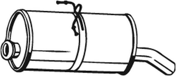 Silencieux arrière pour CITROËN BERLINGO I Camionnette 2.0
