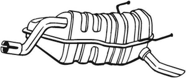 Silencieux arrière pour FIAT PUNTO (188) 1.9 JTD 80 (188