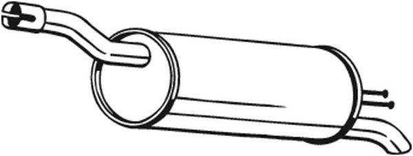 Silencieux arrière pour FIAT DOBLO Cargo (223) 1.9 JTD