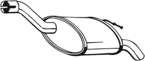 Silencieux arrière pour FORD FOCUS (DAW, DBW) 1.8 TDCi