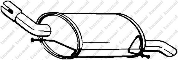 Silencieux arrière pour OPEL CORSA C (F08, F68) 1.3 CDTI