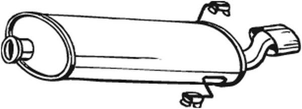 Silencieux arrière pour PEUGEOT 306 3/5 portes (7A, 7C, N3