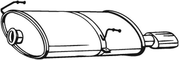 Silencieux arrière pour PEUGEOT 206 3/5 portes 2.0 S16