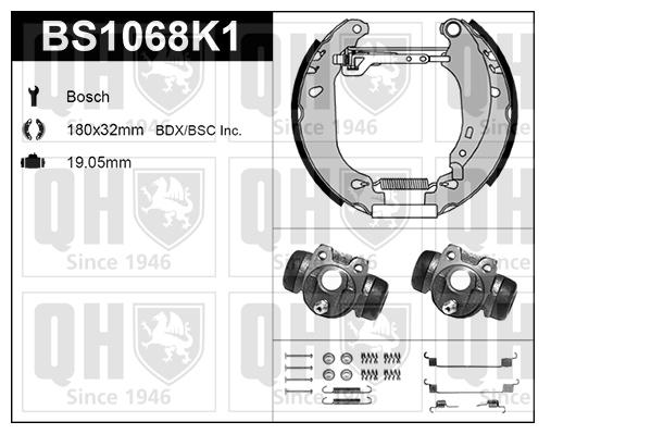 Kit de freins, freins à tambours pour PEUGEOT 206 3/5