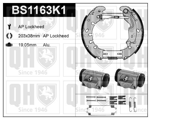 Kit de freins, freins à tambours pour OPEL CORSA D 1.3
