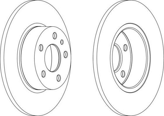 Jeu de 2 disques de frein arrière pour ALFA ROMEO 156 (932