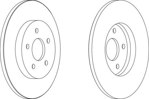 Jeu de 2 disques de frein arrière pour FORD MONDEO III