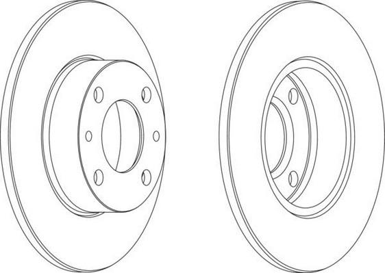 Jeu de 2 disques de frein pour FIAT X1/9 (128 AS) 1.5 Five