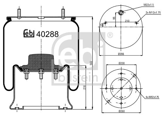 Soufflet à air, suspension pneumatique pour NISSAN PATROL