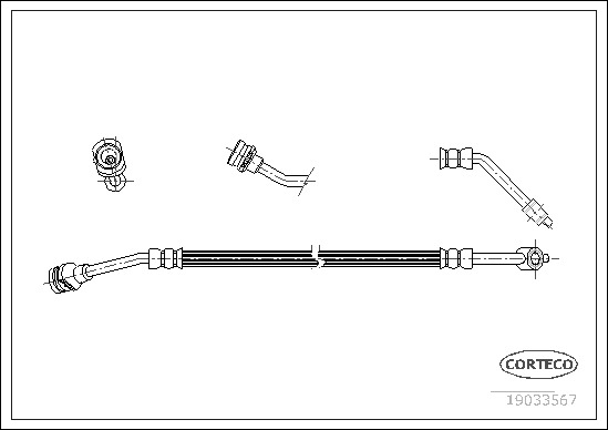 Flexible de frein pour NISSAN TERRANO II (R20) 2.7 TDi 4WD