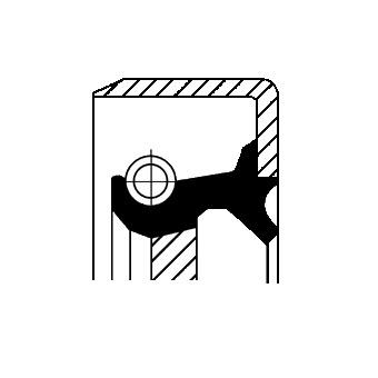 Bague d'étanchéité, boîte de vitesse manuel pour ALFA