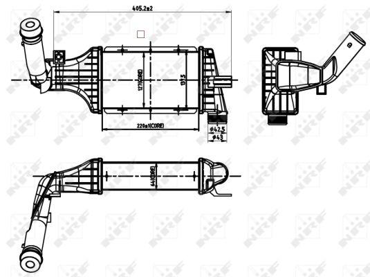 Intercooler, échangeur pour OPEL ASTRA G Berline (F69_) 1