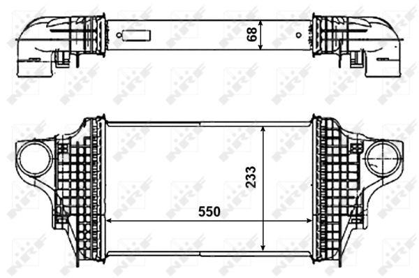 Intercooler, échangeur pour MERCEDES-BENZ CLASSE M (W164
