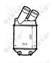 Intercooler, échangeur pour RENAULT MEGANE Scenic I Phase