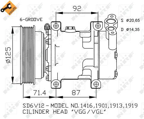 Compresseur, climatisation pour RENAULT CLIO II 1.5 dCi (B