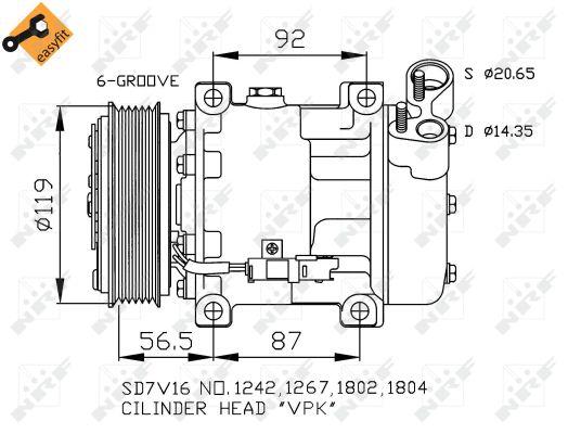 Compresseur, climatisation pour CITROËN XSARA PICASSO (N68