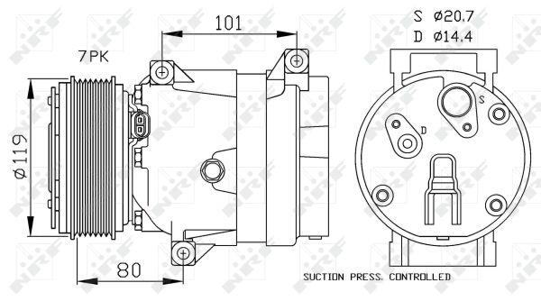 Compresseur, climatisation pour RENAULT MEGANE Scenic I