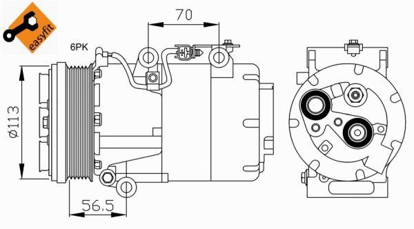 Compresseur, climatisation pour FORD FOCUS C-MAX 1.8 TDCi