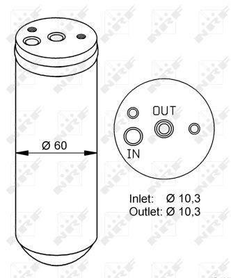 Bouteille déshydratante pour MERCEDES-BENZ CLASSE M (W163