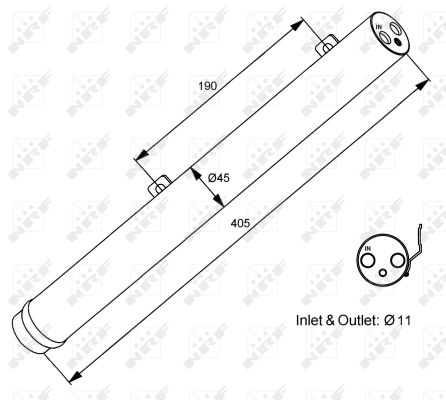 Bouteille déshydratante pour MERCEDES-BENZ CLASSE M (W164