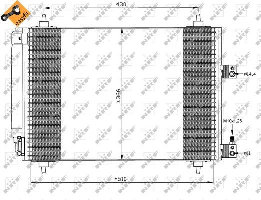Condenseur, climatisation pour CITROËN C5 2.0 HDi (DCRHZB