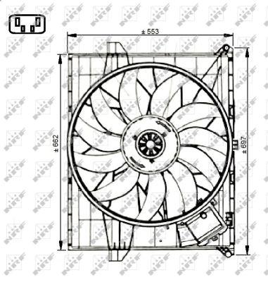 Ventilateur, refroidissement du moteur pour MERCEDES-BENZ
