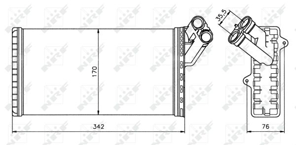 Radiateur de chauffage pour PEUGEOT 806 (221) 2.0 Turbo