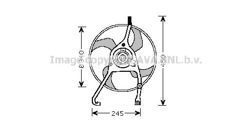 Ventilateur, refroidissement du moteur pour CITROËN C5