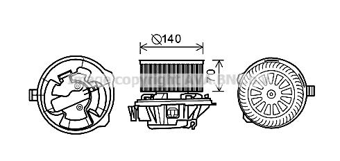 Moteur électrique, pulseur d'air habitacle pour CITROËN C5