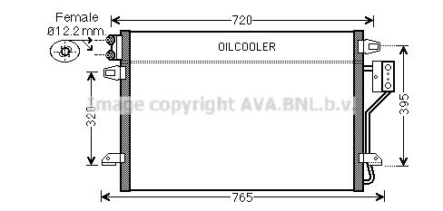 Condenseur, climatisation pour CHRYSLER GRAND VOYAGER V 2