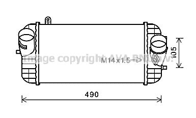 Intercooler, échangeur pour HYUNDAI SANTA FÉ III 2.2 CRDi