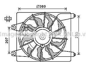 Ventilateur, refroidissement du moteur pour HYUNDAI SANTA