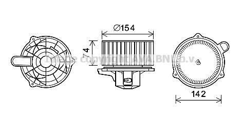 Moteur électrique, pulseur d'air habitacle pour HYUNDAI
