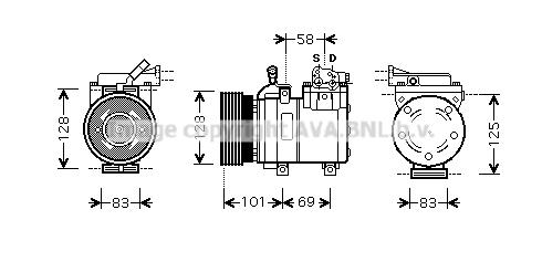 Compresseur, climatisation pour HYUNDAI ACCENT II (LC) 1.5