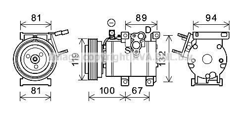 Compresseur, climatisation pour HYUNDAI SANTA FÉ II (CM) 2