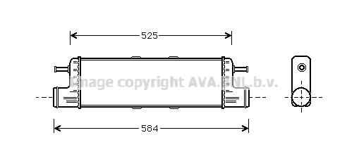 Intercooler, échangeur pour MERCEDES-BENZ CLASSE G (463