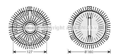 Embrayage, ventilateur de radiateur (visco-coupleur) pour