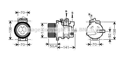 Compresseur, climatisation pour MERCEDES-BENZ CLASSE M