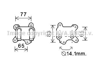 Radiateur d'huile pour OPEL ASTRA G 3/5 portes (F48_, F08