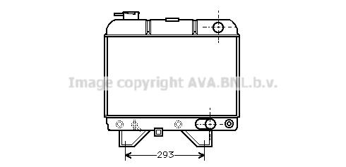 Radiateur du moteur pour PEUGEOT 504 Berline 2.0 (A1, A13