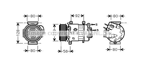 Compresseur, climatisation pour CITROËN C5 (RD_) 1.6 HDi
