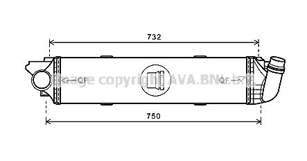 Intercooler, échangeur pour RENAULT TRAFIC III Autobus 1.6