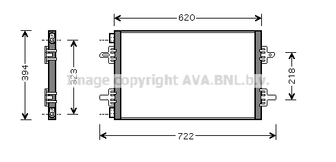 Condenseur, climatisation pour RENAULT ESPACE III 2.2 dCi