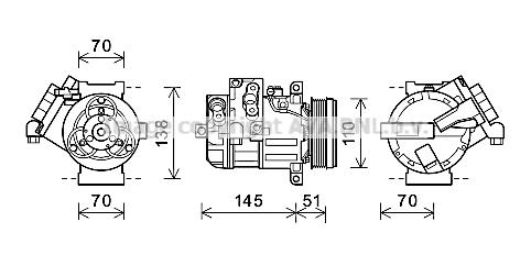 Compresseur, climatisation pour SUZUKI GRAND VITARA 1.9