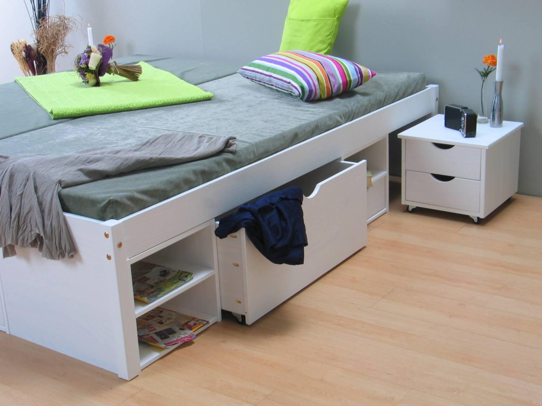 Wit bed tweepersoonsbed met royale bergruimte 180 x 200